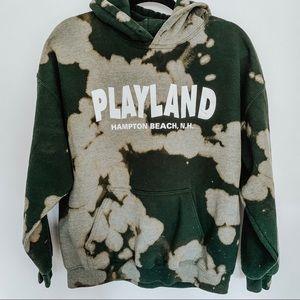 Playland Hampton Beach NH Bleached Tye Dye Hoodie